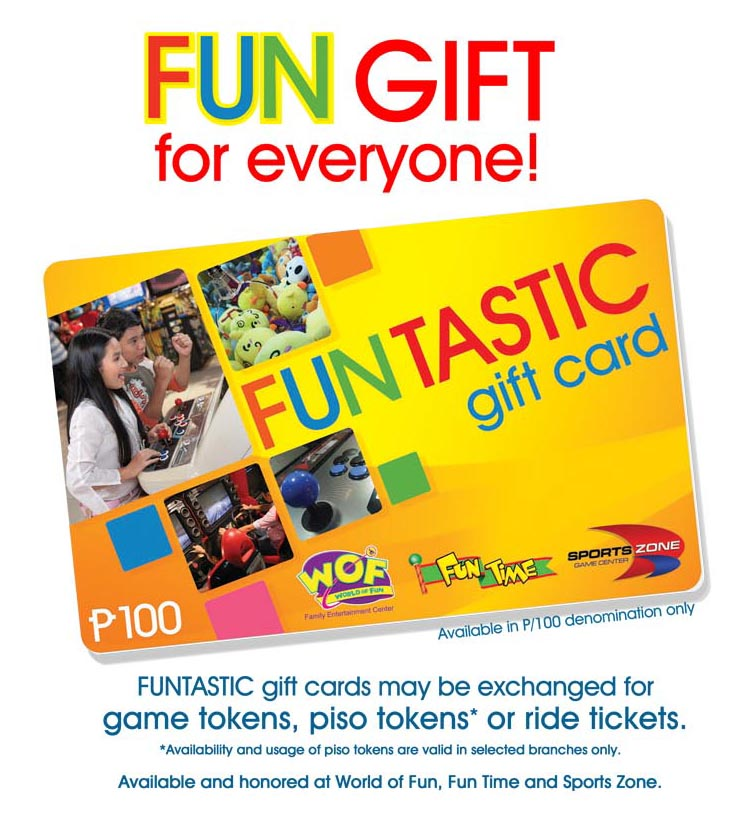 FUNTASTIC GIFT CARD PAGE CONTENTS